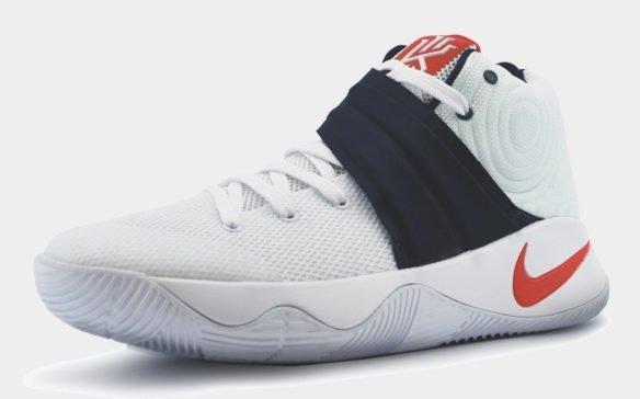 Nike Kyrie 2 белые с синим