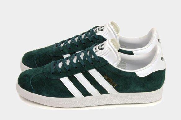 Фото Adidas Gazelle темно-зеленые - 2