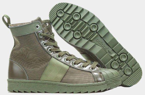 Фото Adidas Superstar Jungle Boots зеленые - 2