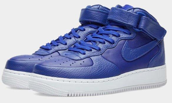 Фото Nike Lab Air Force 1 Mid синие - 1