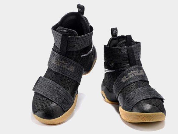 Фото Nike LeBron Soldier 10 Black Gum черные - 2