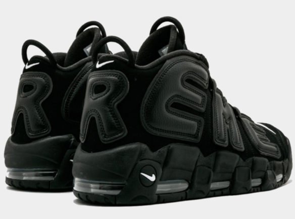 Фото Supreme x Nike Air More Uptempo Suptempo черные - 3